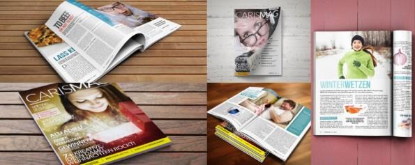 Das als Kundenbindungsmittel und Paketbeilage für Onlinehändler konzipierte Magazin carismag. (Screenshot: Carismag)