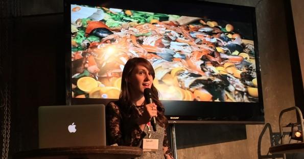 "Iseult Ward und ihr Projekt ""Food Cloud"". (Foto: t3n)"