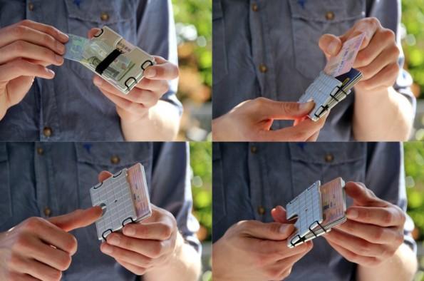Wallum besteht aus Aluminium und soll so RFID-Signale von Karten isolieren. (Bild: Wallum)