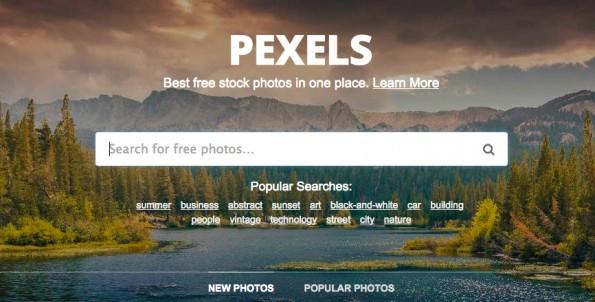 Hochwertige und kostenfreie Bilder – Pexels. (Screenshot: pexels.com)