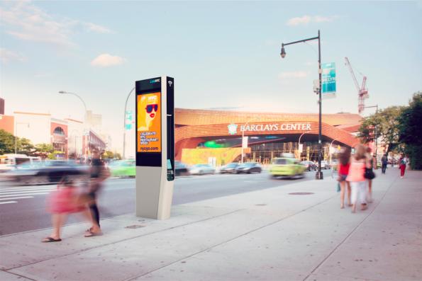 LinkNYC verspricht schnelles kostenloses WLAN für New York. (Foto: CityBridge)