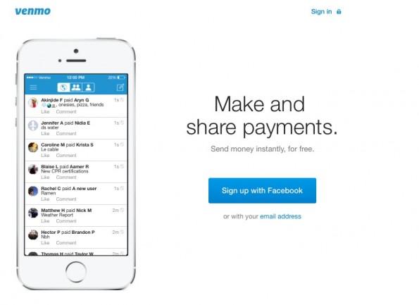 Im Bild ist der Newsfeed der Mobile-Payment-App Venmo aus den USA zu sehen. (Screenshot: Venmo)