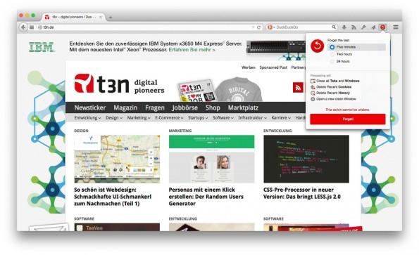 Mozilla veröffentlicht Firefox 33.1 zum zehnten Geburtstag des Browsers. (Screenshot: Firefox 33.1)
