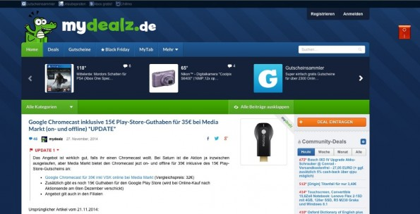 (Screenshot: MyDealz)