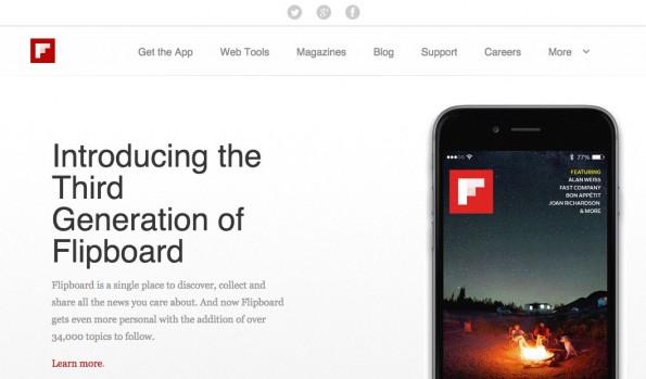 Der Vorreiter unter den personalisierten Aggregatoren. (Screenshot: flipboard.com)