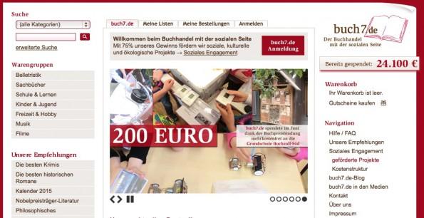 Der Buchhändler Buch7.de stiftet einen Open-Source-Preis über 3000 Euro. (Screenshot: Buch7.de)
