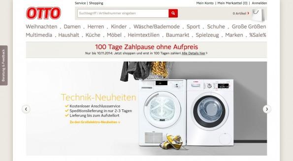 In Deutschland die größte Handelsmarke der Otto-Group: Versandhaus Otto. (Screenshot: Otto)