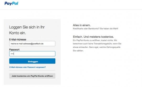 Geraten die E-Mail-Adressen der PayPal-Kunden in fremde Hände, fragt die FAZ. (Screenshot: PayPal)