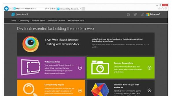 RemoteIE: Microsoft bringt den Internet Explorer in die Cloud. (Screenshot: Microsoft)