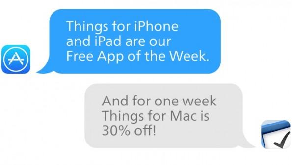 Things ist bis zum 28. November kostenlos im App Store erhältlich. (Grafik: culturedcode.com)