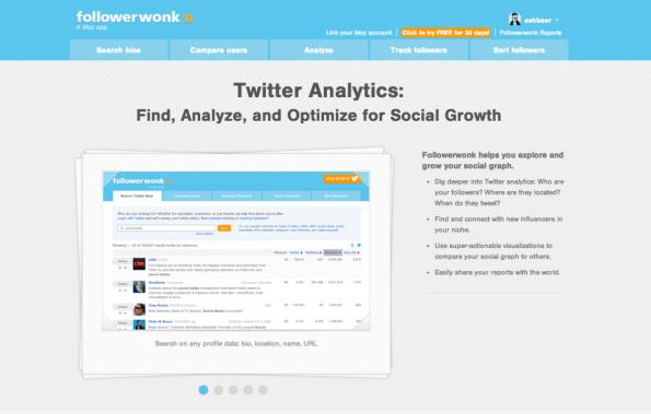 Personal Branding: Mit Hilfe von Followerwonk kannst du Twitter-Bios durchsuchen und die Ergebnisse zur Reichweiten-Steigerung nutzen. (Screenshot: Followerwonk)
