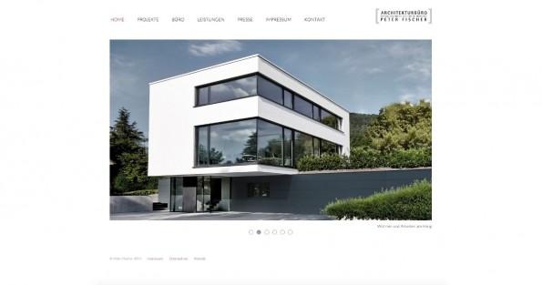 Architekturbüro Peter Fischer nutzt NEOS CMS für seine Firmenpräsentation.