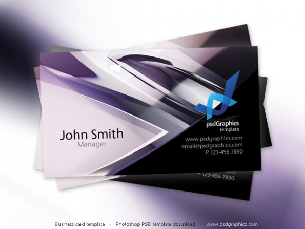 (Bild: psdgraphics.com/psd/abstract-hi-tech-design-business-card-template)