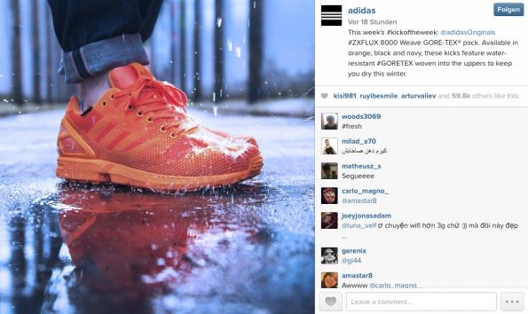 Schön, oder? (Screenshot: Instagram.com/adidas)