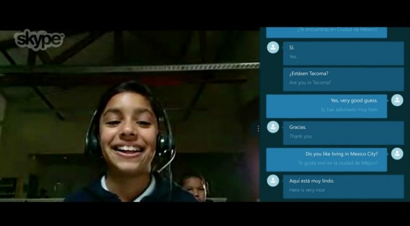 Skype Translator Preview: Echtzeit-Übersetzer im Test. (Screenshot: Microsoft/YouTube)