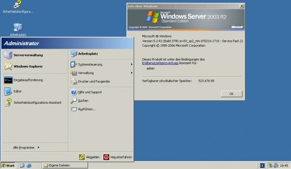 Support für Windows Server 2003 wird nach zwölf Jahren eingestellt. (Screenshot: Microsoft/Perhelion)