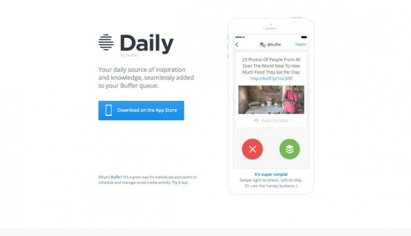 Das Tinder-Prinzip als Startup-Trend: Daily by Buffer. (Screenshot: t3n)
