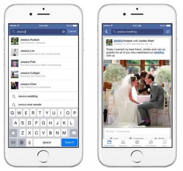 Facebook: Die neue Suchfunktion kommt vorerst nur für den Desktop und für die iOS-App. (Grafik: Facebook)