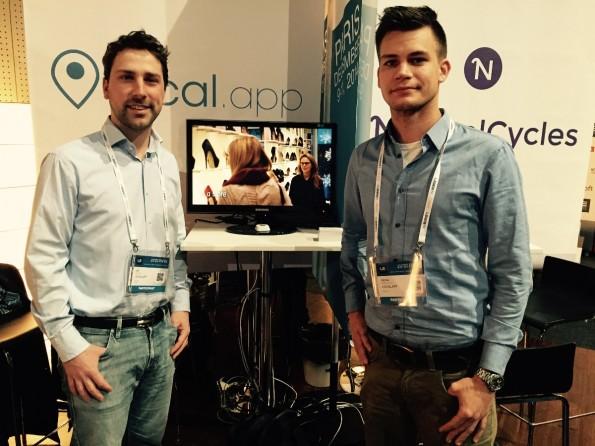 Leif Pritzel und Nico Fröhlich von local.app haben sich selbst mit ihrem Einzug in das Finale des LeWeb-Startup-Pitches überrascht. (Foto: local.app)