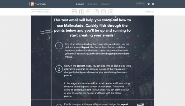 Mit Mailmalade erstellt ihr aus grafischen Vorlagen schnell ansprechende E-Mail-Kampagnen. (Screenshot: Mailmalade)