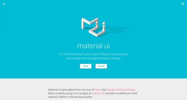 Material Design: Neben Bootstrap-Templates gibt es auch schon verschiedene CSS-Frameworks im Material-Design-Look. (Screenshot: Materialize)