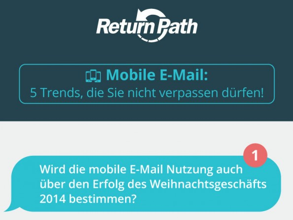 Die Trend im Bereich Mobile-E-Mail-Marketing. (Grafik: ReturnPath)