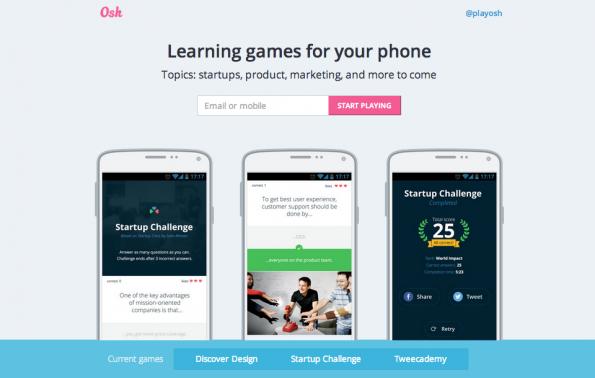 """""""Discover Design""""-Spiel ist nur eines unter vielen Learning-Games. (Screenshot: playosh.com)"""