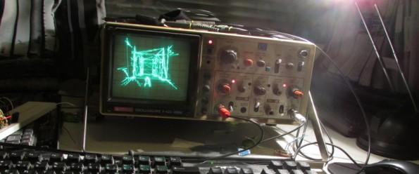 Quake auf einem Oszilloskop von Hitachi. (Foto: Pekka Väänänen)