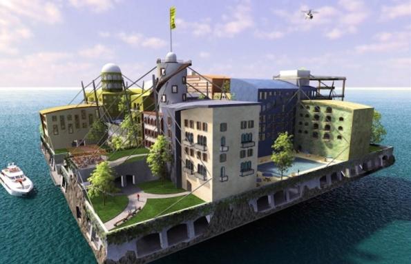 Das Seasteading-Institute als liberaler Rückzugsort für Forscher und Tech-Entrepreneure. (Grafik: Seasteading)