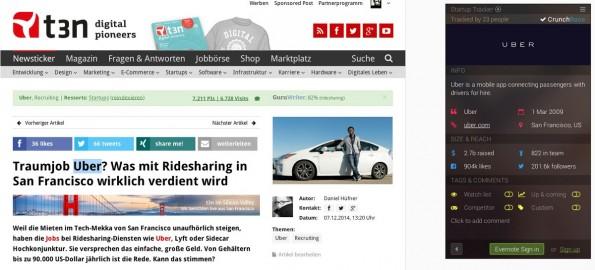 Browser-Erweiterung: Mit Startup-Tracker behaltet ihr Startups im Blick. (Screenshot: t3n.de)