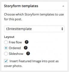 Artikel schick aufbereiten: Das WordPress-Plugin Storyform gibt euch drei Layout-Optionen an die Hand. (Screenshot: Storyform)
