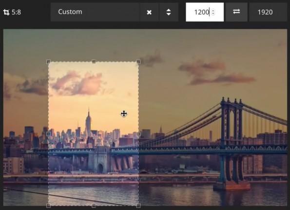 In TYPO3 Neos 1.2 können jetzt auch einfach Bilder zugeschnitten und in ein bestimmtes Verhältnis gebracht werden. (Screenshot: YouTube)