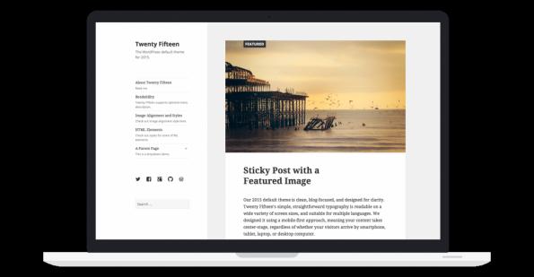 """Twenty Fifteen"" heißt das neue Standard-Theme in WordPress 4.1 (Grafik: WordPress)"