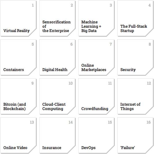 Andreessen Horowitz nennt die 16 heißesten Tech-Trends der kommenden Jahre. (Screenshot: a16z.com)