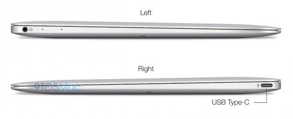 Mit dem USB-3.1-Anschluss vom Typ C könnte Apple alle Schnittstellen kombinieren, auch die Stromversorgung. (Quelle: 9to5Mac.com)