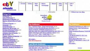 Kein Augenschmaus: Ein Rückblick auf die Anfangszeiten der zehn reichweitenstärksten deutschen Websites