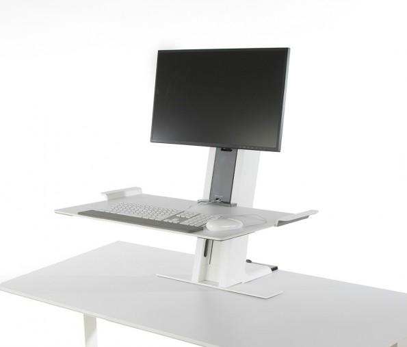 OfficeIQ: Schreibtisch sagt Büroarbeitern, wann es Zeit für Arbeit im Stehen ist. (Foto: Humanscale)