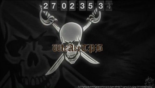 Der Countdown auf der Site des Torrent-Indizierers The Pirate Bay (Screenshot: TPB)