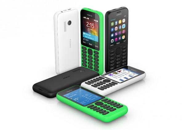 Nokia 215: Microsoft will bei Einsteigern punkten. (Foto: Microsoft)