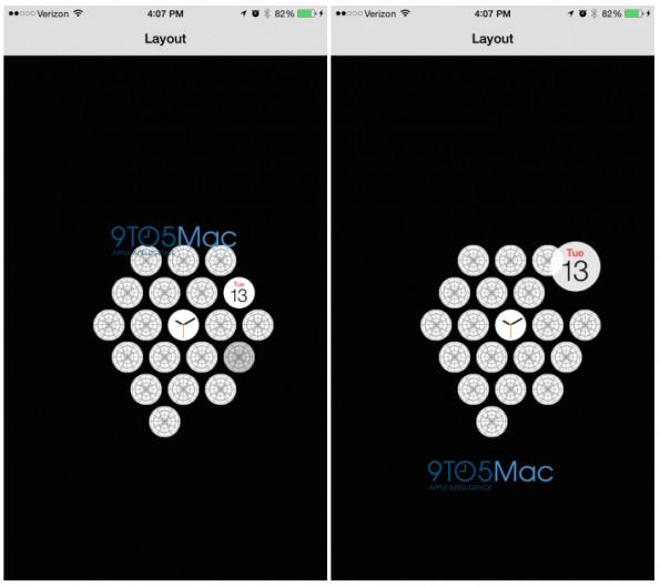 Apple Watch: Über die Companion-App verwaltet ihr auch die Apps auf eurem Homescreen. (Screenshot: 9to5mac)