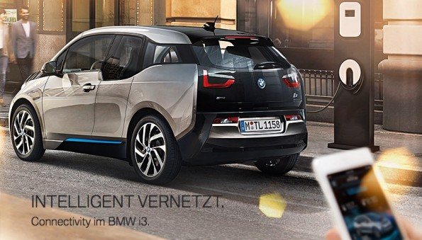 Der i3 von BMW kann selbstständig einparken – wenn er die Umgebung kennt. (Screenshot: bmw.de)