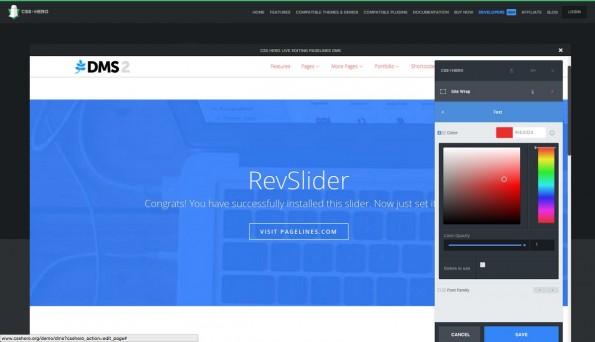 Mit CSS Hero könnt ihr das Aussehen von WordPress-Themes mithilfe einem WYSIWYG-Interface anpassen. (Screenshot: CSS Hero)