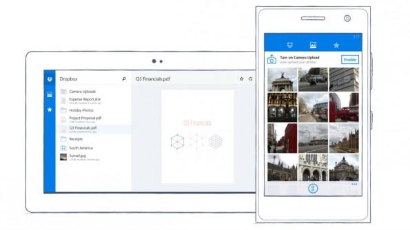 Dropbox bringt seinen Speicherdienst auf Windows Phone. (Bild: Dropbox)