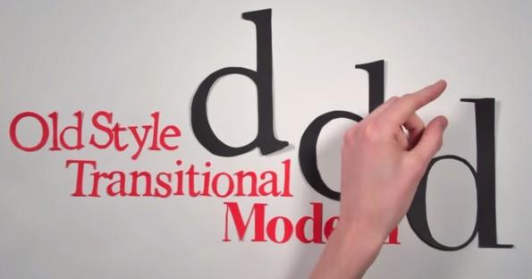 Die Geschichte der Typografie erklärt die Unterschied zwischen Old Stlye, Transitional und Modern. (Screenshot: YouTube)