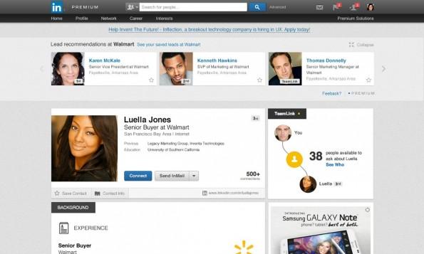 LinkedIn will zukünftig auch in Unternehmen eine größere Rolle spielen. (Screenshot: LinkedIn)