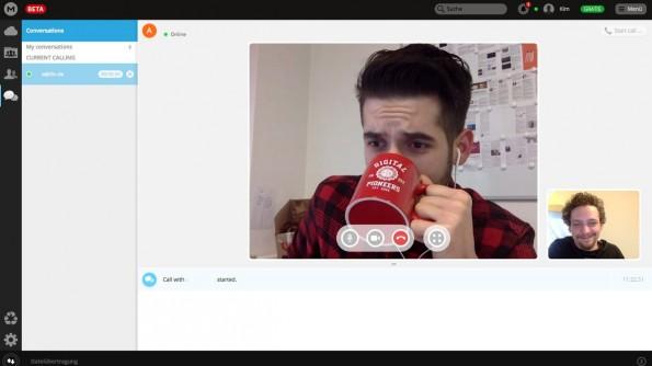 MegaChat: An der Bild- und Tonqualität der Skype-Alternative konnten wir nichts aussetzen. (Screenshot: Mega)
