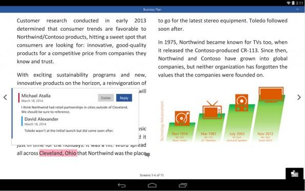 Word, Excel, Powerpoint: Testversionen der neuen Office-Apps stehen ab jetzt allen Android-Nutzern zur Verfügung. (Screenshot: Play-Store)
