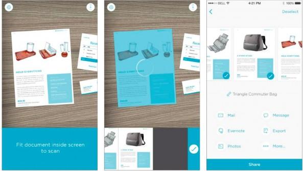 Evernote: Mit Scannable digitalisiert und verarbeitet ihr Dokumente mit eurem Smartphone. (Screenshots: Evernote)