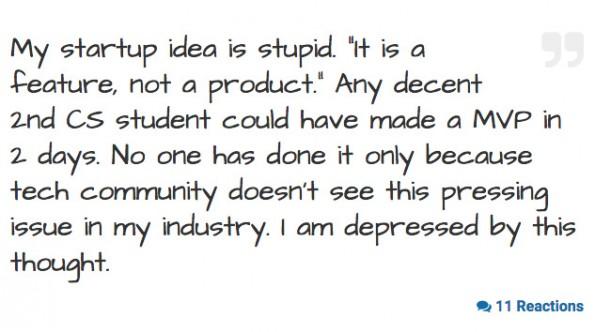 Startups Anonymous: Auch Geständnisse können auf der Seite anonym abgelegt werden. (Screenshot: Startups Anonymous)