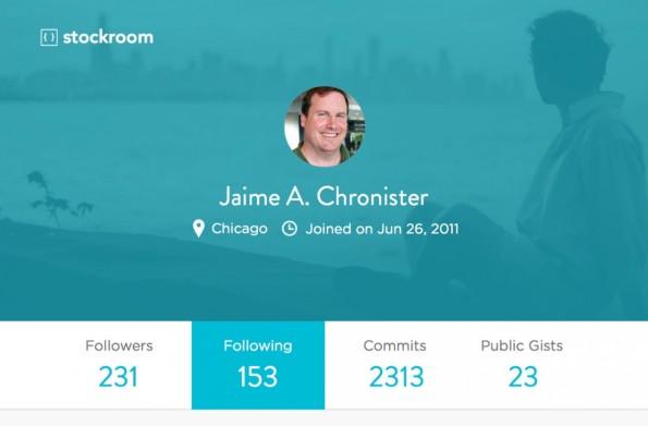 Stockroom: Tool generiert aus eurem GitHub-Profil ein schickes Entwickler-Portfolio. (Screenshot: Stockroom)